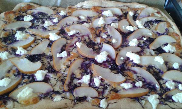 Fall Pear Pizza with Silvery Moon Cheese